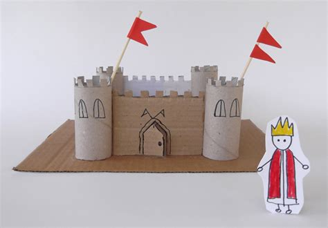 How To Make A Paper Castle Easy - craftsboom defence castle