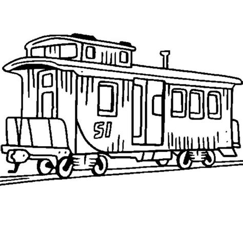 coloring page train caboose train caboose clipart best