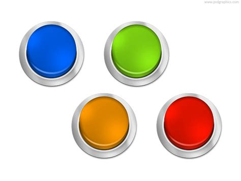 blank button template psdgraphics