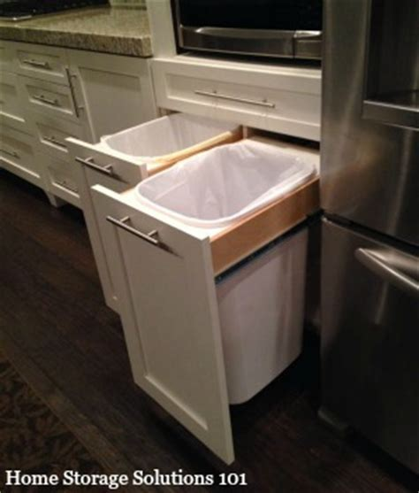 home storage solutions 101 kitchen garbage cans pros cons of the varieties