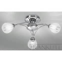 3 Light Ceiling Light Franklite Fl2206 3 Chloris Chrome 3 Light Flush Ceiling Light