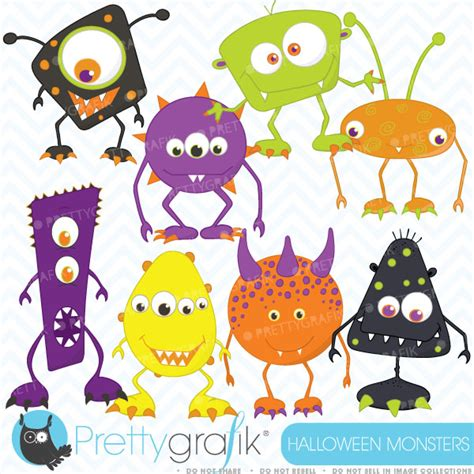 Halloween Monsters Clipart – Festival Collections A-paper Clip Art