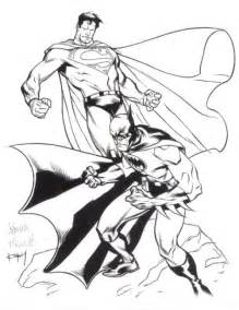 Batman and superman colouring pages page 2