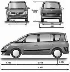 Renault Grand Espace Dimensions Renault Espace Iv Grand Espace Dane Techniczne