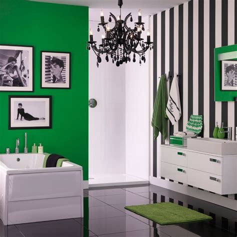 monochrome bathroom ideas monochrome and green bathroom colourful bathroom ideas 10 of the best housetohome co uk