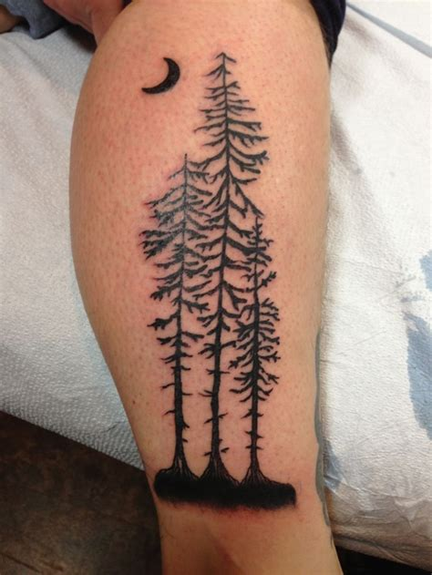 redwood tree tattoo redwood tree silhouette by my tattoos