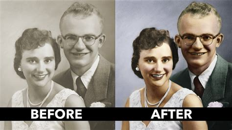 how to add color to a black and white vintage photo