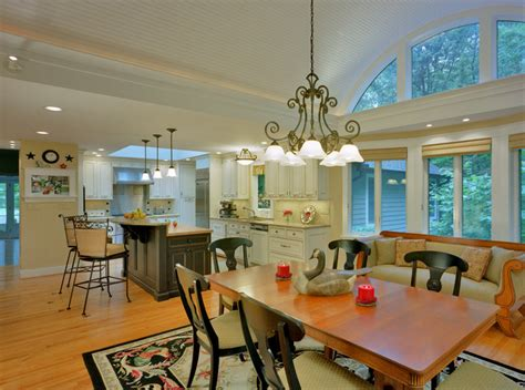 barrel vaulted ceiling  renovated kitchen traditional