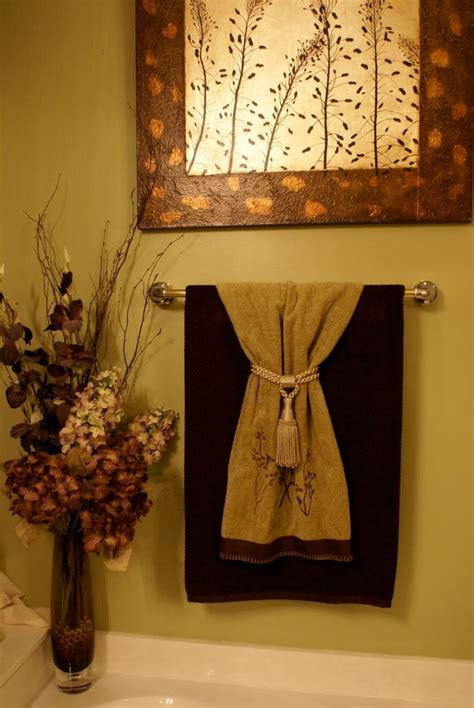 Bathroom Towel Hanging Ideas Decorative Towels 1st Level Bathroom Idea Pinterest