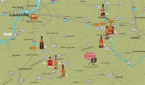 ky driving map kentucky bourbon trail brews and beverages