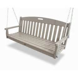shop trex outdoor furniture sand castle porch swing at lowes