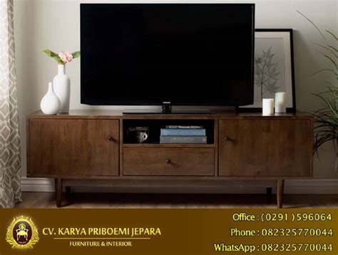 Bufet Tv Pintu Krawang Retro Jati bufet tv retro minimalis kayu jati