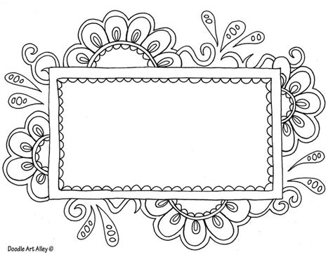 coloring pages for name tags flowerframetemplate jpg this would make a pretty quilt