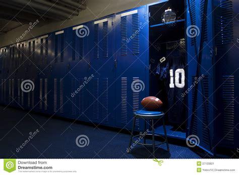 locker room authentics football locker room stock image image 27133821