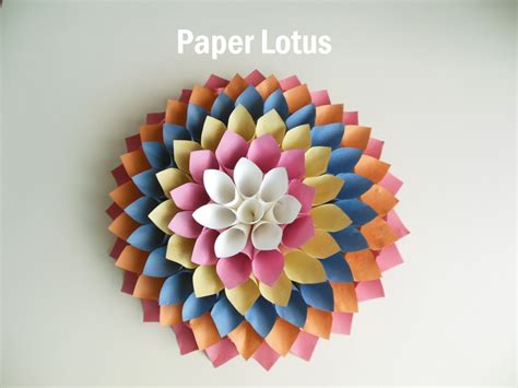 How To Make Things With Paper Only - paper lotus