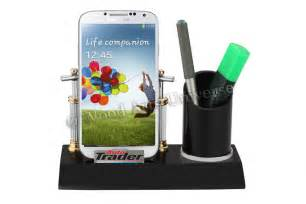 Cell Phone Desk Holder by Desktop Cell Phone And Pen Holder Waupc221