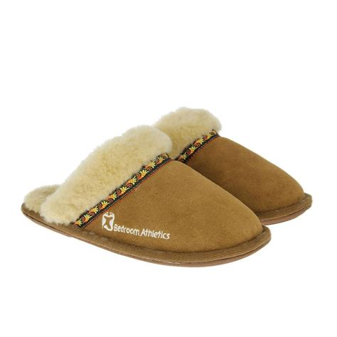 bed slippers bedroom athletics womens muffin slippers new chestnut