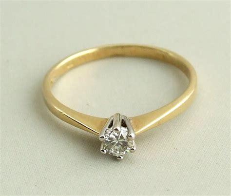 Ring Diamant by 14 Karaat Gouden Ring Met Diamant In Klauwzetting Kopen