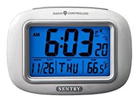 sentry atc30 radio controlled atomic weather alarm clock home kitchen