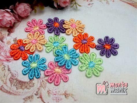 Bunga Renda aplikasi bunga renda melati warna abr 013 montemanik