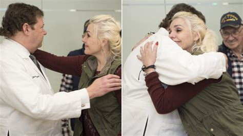 rachel from the doctors show how far is her pregnancy brain cancer survivor reunites with her doctors after 18