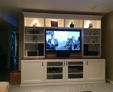ikea media center ikea axel cabinets basement wall of built ins out of ikea hemnes cabinets dream