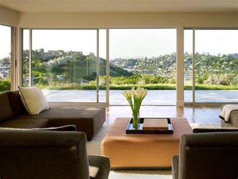oversized  glass sliders open concept home house