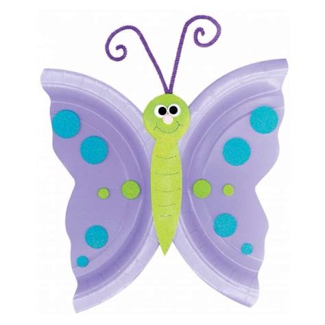 Butterfly Paper Plate Craft - butterfly craft out of paper plate trusper