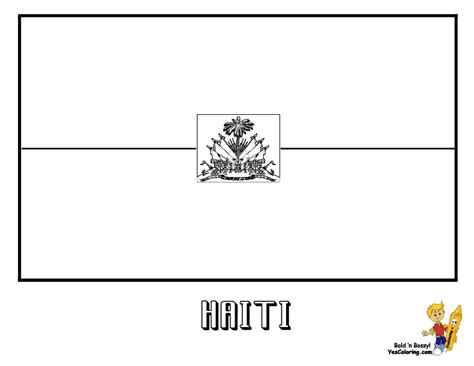 haiti flag free coloring pages