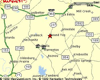 roundtop texas map directions to innside of top