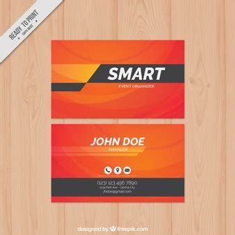 travel business card template with orange wavy designs logo template design vector free