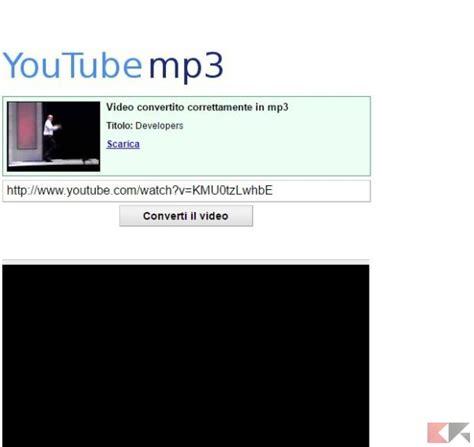 download mp3 youtube copyright scaricare e convertire video youtube anche in mp3
