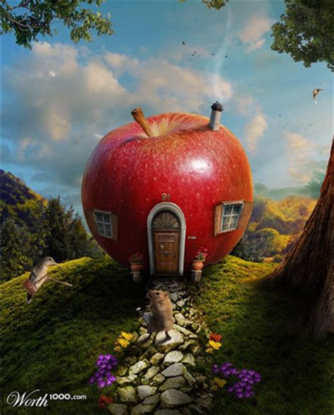 apple house fantasy images apple house wallpaper and background photos 38416160