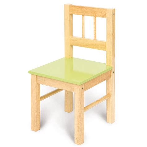 bigjigs childs wooden chair green