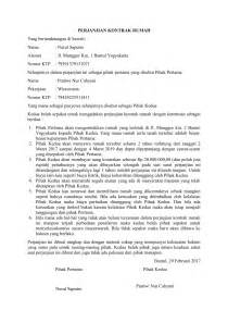 contoh surat perjanjian kontrak rumah terbaru