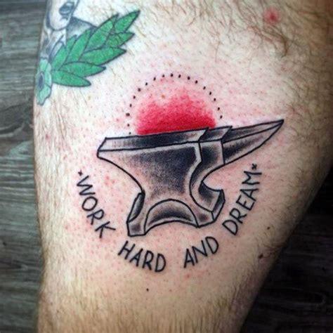 small retro tattoos 60 anvil designs for iron block ink ideas