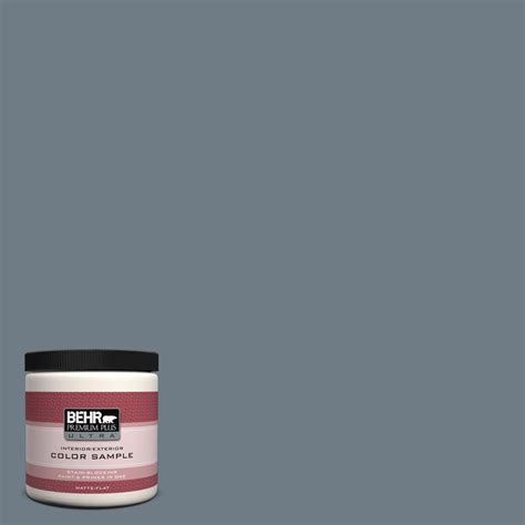 behr paint primer colors behr premium plus ultra 8 oz n490 5 charcoal blue flat