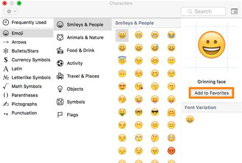 mac add text to adding emojis to your favorites list on your mac