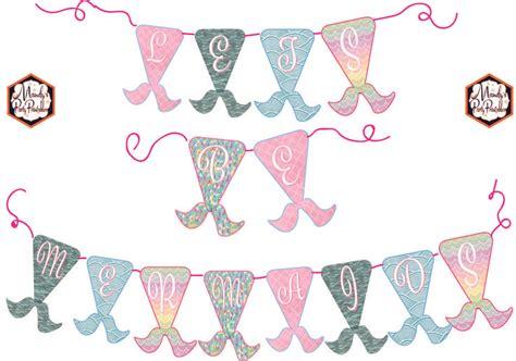 printable mermaid banner 24 best free mermaid party printables images on pinterest