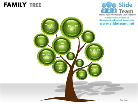 Family Tree Powerpoint Presentation Slides Ppt Templates Family Powerpoint Templates