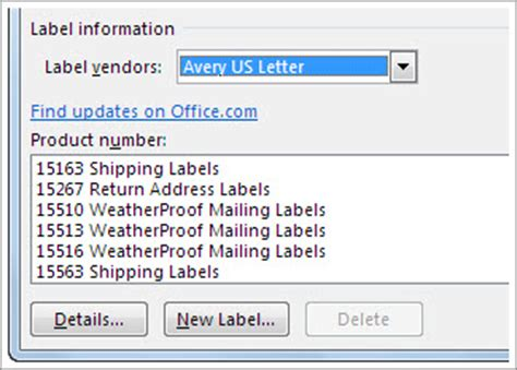 how to set up label template in word create and print labels word