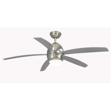 lowes kitchen ceiling fans shop allen roth 52 in secor polished nickel ceiling fan