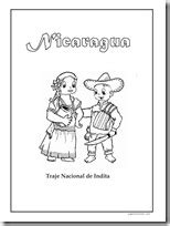 Colorear trajes típicos de Nicaragua - Colorear dibujos