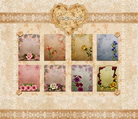 Floral Photo Album Backgrounds Presnetation Ppt Backgrounds Templates Powerpoint Album Template