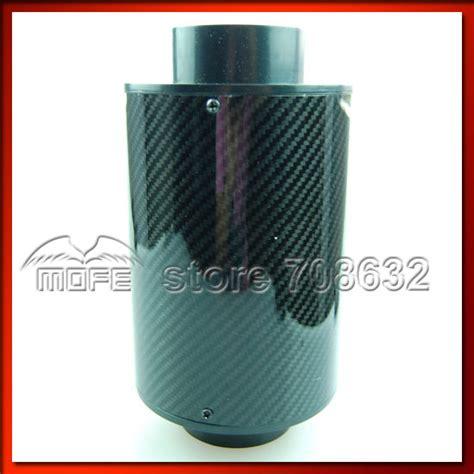 Terlaris Carbon Air Intake Set Filter Udara Carbon Termasuk Slang Dan special offer 76mm 3 quot black carbon air filter with pipe abs adpater silicone hose