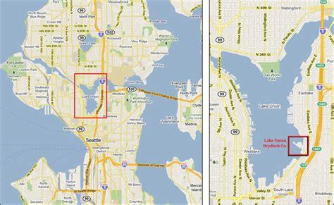 seattle map lake union location