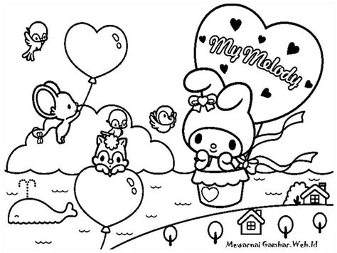 my melody coloring pages coloring home