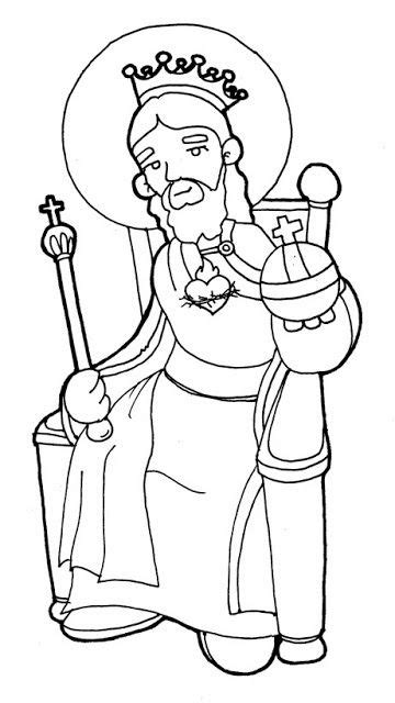 coloring pages for christ the king sunday christ the king catholic coloring page schoolroom