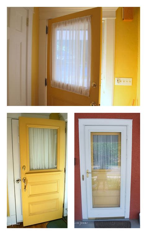 Exterior Door With Window Entry Door Window Treatments Window Treatments Design Ideas