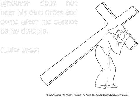 coloring pages of jesus carrying the cross sunday school jesus bible coloring pages